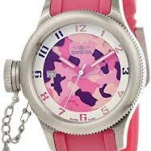 Invicta Women's Russian Diver Pink Camo RARE